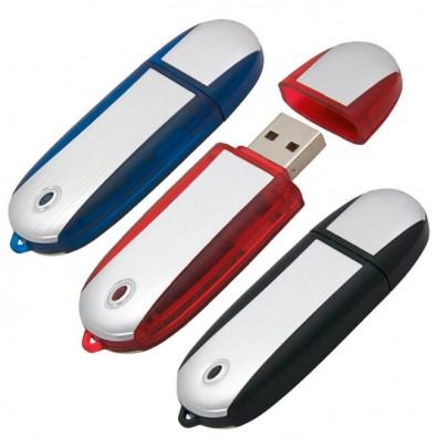 USB-Stick Aluline, Rot, 4 GB