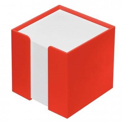 Zettelbox 10 x 10 x 10 cm notizquader orange for 10 x 10 x 10