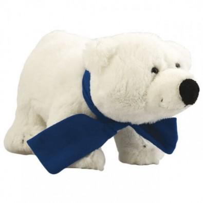 Softplüsch-Eisbär Freddy mit Schal Blau