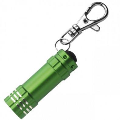 LED - Minilampe mit Karabiner Grün