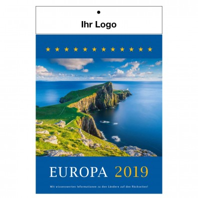 Bildwandkalender Europa 2019