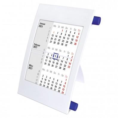 2-Jahres-Tischkalender 2021/2022, Weiß/Blau