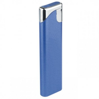 Piezo-Gasfeuerzeug Slim, Blau/Metallic