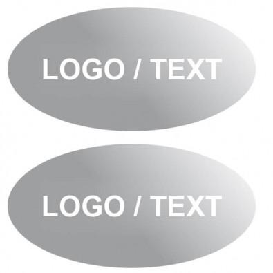 Etikett, oval Matt Silber | oval, 60 x 30 mm