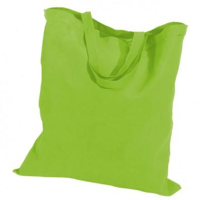 Baumwolltasche, kurze Henkel, Apfelgrün, 4-farbig bedruckbar