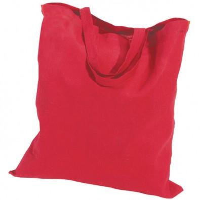 Baumwolltasche mit kurzen Henkeln, Rot, 4-farbig bedruckbar