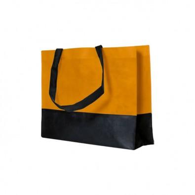 Vlies-Umhängetasche Orange/Schwarz
