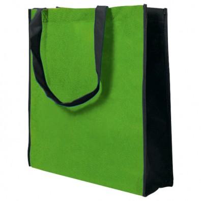 Vliestasche Big Shopper, Apfelgrün/Schwarz