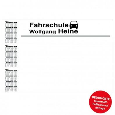 Schreibunterlage mit Kalender links | inkl. 1-farbigem Druck