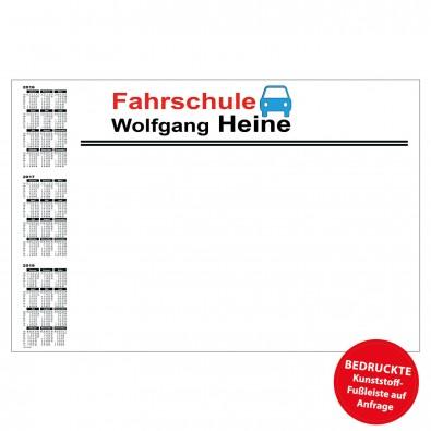 Schreibunterlage mit Kalender links | inkl. 3-farbigem Druck