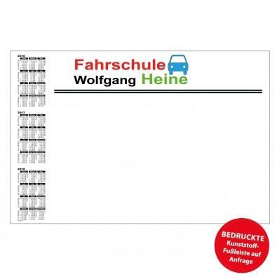 Schreibunterlage mit Kalender links | inkl. 4-farbigem Druck