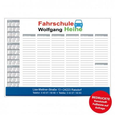 Schreibunterlage mit Kalender und Wochentage | inkl. 4-farbigem Druck