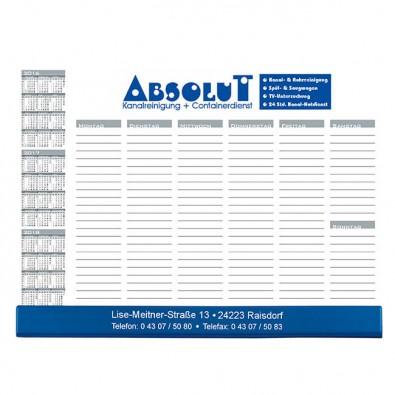 Schreibunterlage mit Kalender und Wochentage | ohne Werbedruck