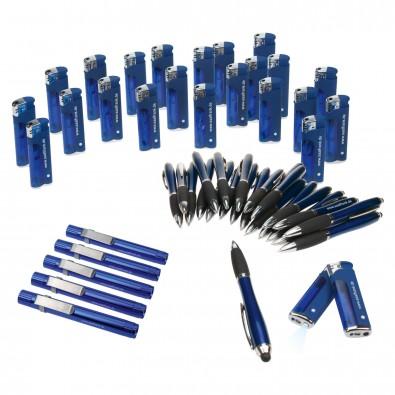 Werbe-Sparset, 310-tlg., Blau, Inkl. Druck