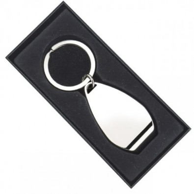 Schlüsselanhänger Bottle Opener, Silber
