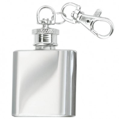 Flachmann-Schlüsselanhänger, 25 ml