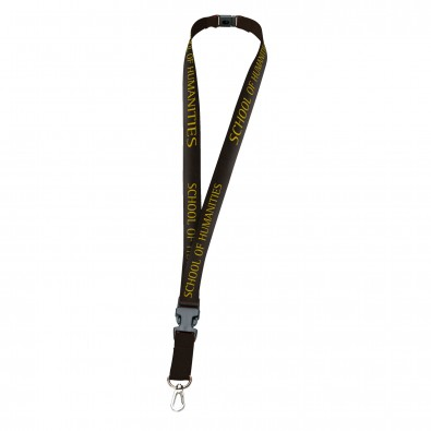 Lanyard Schlüsselband, 20 mm, Schwarz