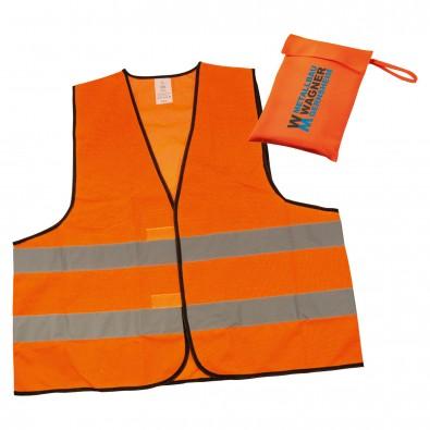Warnweste im Etui, Orange