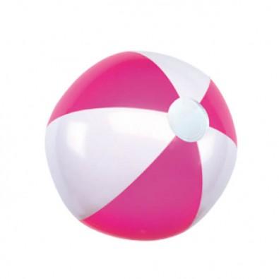 Wasserball Pink/Weiß/Glänzend
