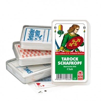 Tarock Schafkopf-Spiel, Rückseite, 4-farbig