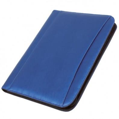 Konferenzmappe mit Rechner, Blau