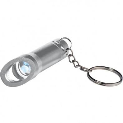 Taschenlampe mit Flaschenöffner Silber
