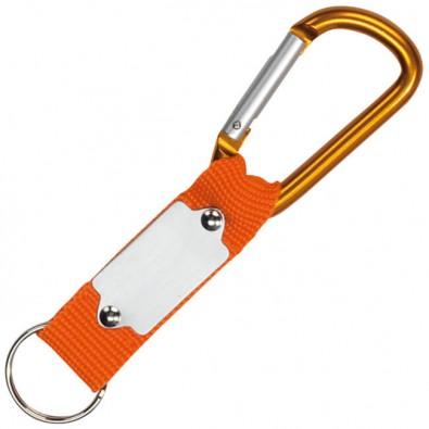 Schlüsselanhänger mit Karabiner Orange