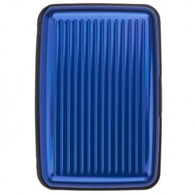 Visitenkarten Box Blau Metallic Blau Metallic
