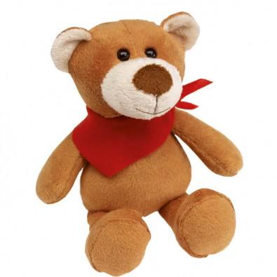 Plüsch-Tiere Fluffy Bär Halstuch Rot
