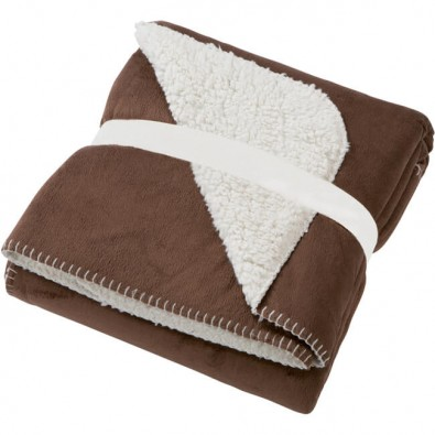 Original James  Nicholson Kuscheldecke Kamin, Braun/Neutral