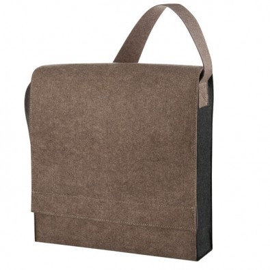 Filz-Businesstasche Braun/Meliert