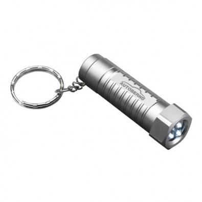 LED Schlüsselanhänger REFLECTS-FRAMERIES, silber