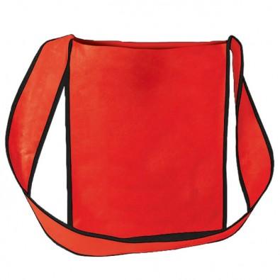 Vlies-Umhänge-Dokumententasche, Rot