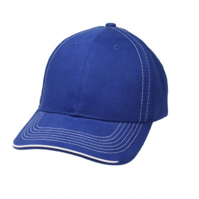 Sandwich-Cap Kontrast Royalblau/Weiß
