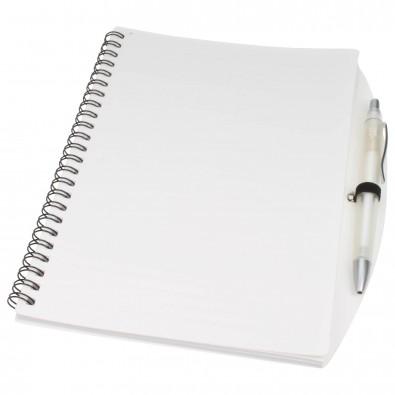 Notizbuch Busy mit Kugelschreiber, A5 Weiß | A5