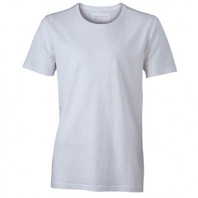 Original James & Nicholson Rundhals T-Shirt für Herren Weiß | M