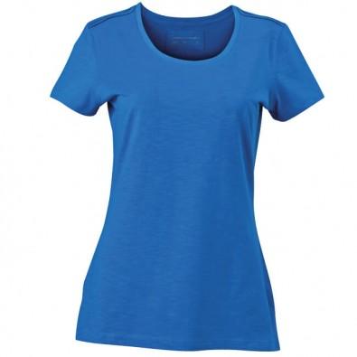 Original James & Nicholson Rundhals T-Shirt Damen Azur | S