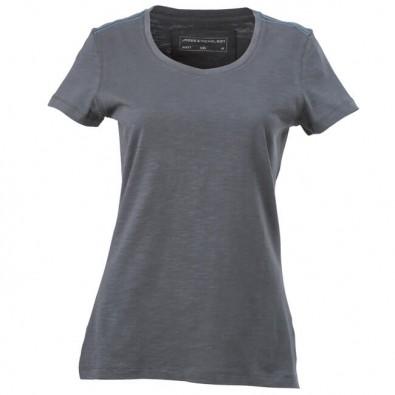 Original James  Nicholson Rundhals T-Shirt Damen, Graphit, S