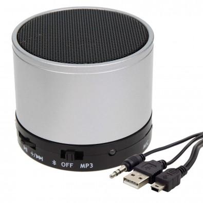 Bluetooth-/MP3-Lautsprecher Soundbox, silber