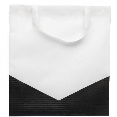 Vliestasche Arrow Weiß/Schwarz