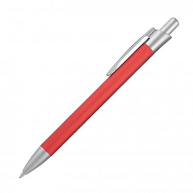 Metall-Kugelschreiber Brushed, Rot