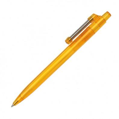 Kugelschreiber mit Federclip Spiralo Orange/Transparent