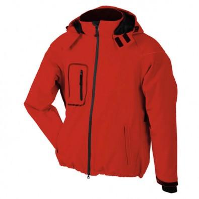 Original James & Nicholson Softshell-Jacke für Herren Rot | M