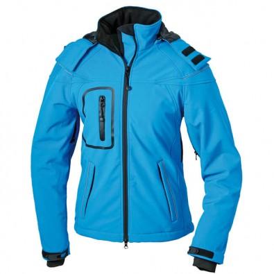 Original James & Nicholson Softshell-Jacke für Damen Aqua | M