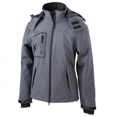Original James & Nicholson Softshell-Jacke für Damen Carbon | L