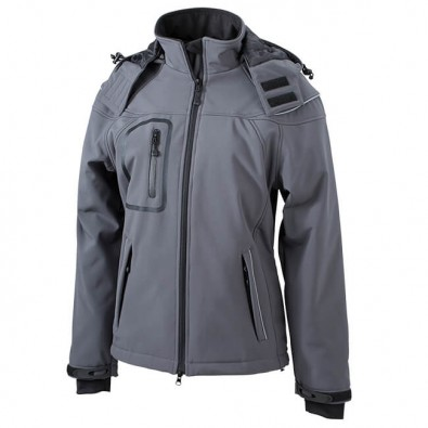 Original James & Nicholson Softshell-Jacke für Damen Carbon | M