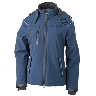 Original James & Nicholson Softshell-Jacke für Damen navy | XL