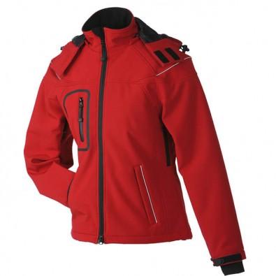 Original James  Nicholson Softshell-Jacke für Damen, Rot, L
