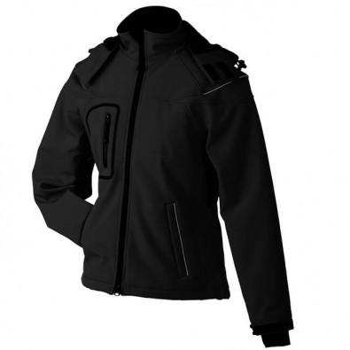Original James & Nicholson Softshell-Jacke für Damen Black   M