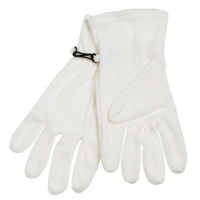 Microfleece-Handschuhe, Weiß, S/M